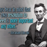 Abraham Lincoln Quotes about Success