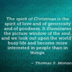 Amazing Quotes by Thomas S. Monson about Christmas
