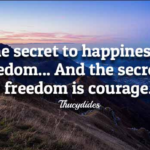 Quotes About Happiness by Thucydides