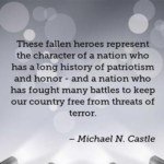 Quotes About Memorial Day by Michael N. Castle