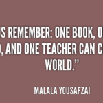 Quotes About Teacher by Malala Yousafzai