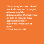Quotes About Work by Vince Lombardi