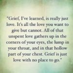 Quotes about Grief and Loss Of A Loved One