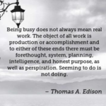 Thomas A. Edison Quotes About Intelligence