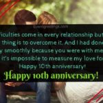 10th Anniversary Wishes For Husband