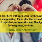 15th Wedding Anniversary Quotes Facebook