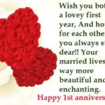 1st Wedding Anniversary Message Pinterest