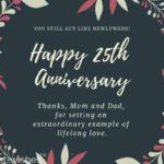 25th Anniversary Wishes For Mom And Dad Pinterest