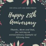 25th Wedding Anniversary Wishes For Parents Twitter
