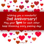 2nd Year Anniversary Wishes Facebook