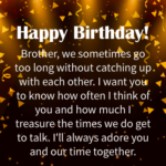 50th Birthday Wishes For Brother
