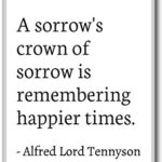 Alfred Lord Tennyson Sorrow Quotes