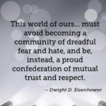 Amazing Quotes by Dwight D. Eisenhower about Fear