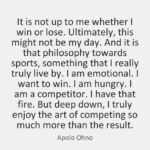 Apolo Ohno Quotes About Sports