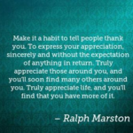 Awesome Quotes by Ralph Marston about Thankful