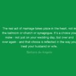 Barbara De Angelis Quotes About Wedding