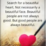 Beauty Is In Heart Not In Face Quotes Facebook