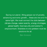 Best Quotes by Ban Ki-moon about Environmental
