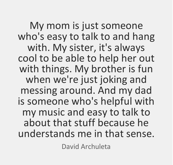 Best Quotes by David Archuleta about Cool