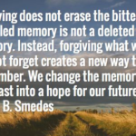 Best Quotes by Lewis B. Smedes about Moving On