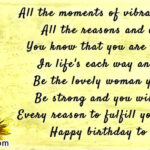 Birthday Message For A Strong Woman Facebook