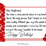 Birthday Message For Boyfriend Pinterest