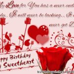 Birthday Wishes For Sweetheart Pinterest
