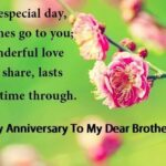 Brother Wedding Anniversary Quotes Facebook