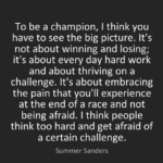 Experience Quotes by Summer Sanders