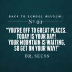 First Day Of School Inspirational Quotes Pinterest