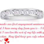 First Engagement Anniversary Wishes