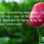 First Wedding Anniversary Message For Husband Twitter