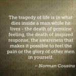 Great Quotes by Norman Cousins about Sad