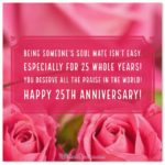 Happy 25th Anniversary Wishes Pinterest