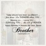Happy Birthday To My Brother In Heaven Twitter