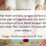 Happy Wedding Anniversary Mom And Dad Pinterest