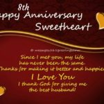 8th Anniversary Wishes For Husband Pinterest