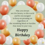 Inspirational Birthday Greetings Facebook