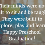 Inspirational Message For Preschool Graduation Twitter
