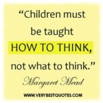 Inspirational Quotes About Children's Education Facebook
