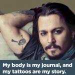 Johnny Depp Quotes Tattoos