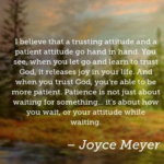 Joyce Meyer Quotes About Patience