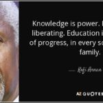 Kofi Annan Quote Knowledge Is Power Facebook