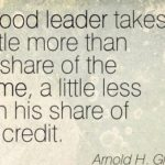 Leadership Quotes by Arnold H. Glasow
