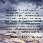 Leah LaBelle Quotes About Positive