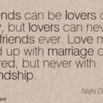 Lovers Can Be Friends Quotes
