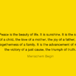 Menachem Begin Quotes About Smile