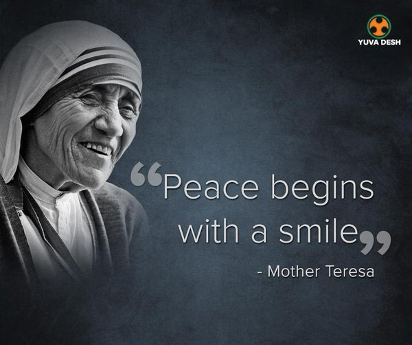 Mother Teresa Quotes Smile