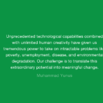Muhammad Yunus Quotes About Environmental