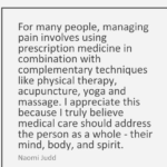 Naomi Judd Quotes About Medical